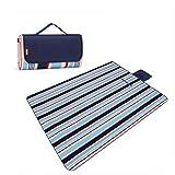 Picknick-Decke im Freien wasserdicht Handy Mat Tote Streifen 79 * 57 Zoll