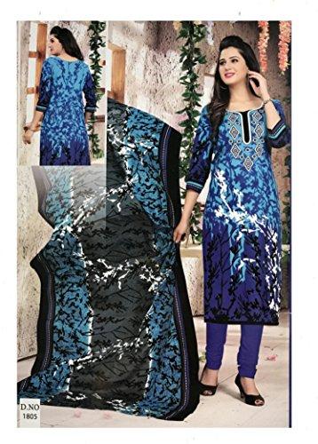 Mishri Collection Salwar Kameez Dupatta Indian Dress Material in Sapphire Blue &...