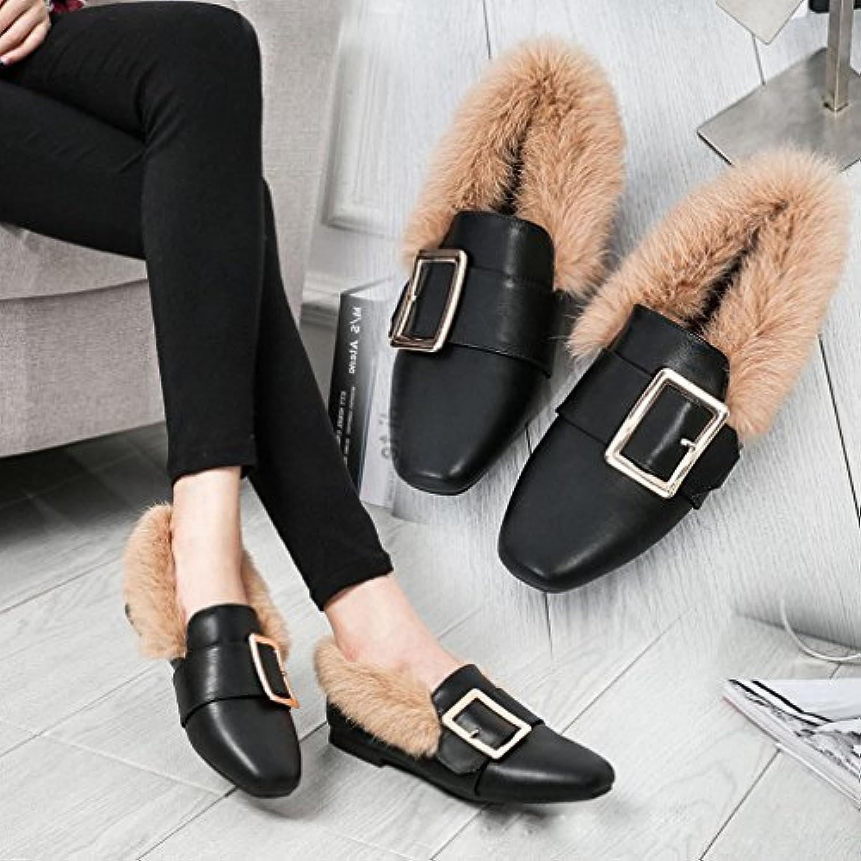 Maomao Zapatos de Mujer Otoño E Invierno Zapatos Laterales Europeos Y Americanos, Además de Zapatos Planos de...