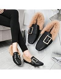 ANI Maomao Scarpe da Donna Autunno e Inverno Lato Europeo e Scarpe  Americane Più Scarpe Piatte Di Velluto con un Singolo Scarpe Piatte… bcc3fababbd