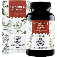 Vitamin B Komplex Forte Kapseln - 180 Stück im 6 Monatsvorrat. Bis zu 10-fach höher dosiert als andere Vitamin B Komplexe. Premium: mit bio-aktiven Vitamin B Formen, dadurch hohe Bioverfügbarkeit