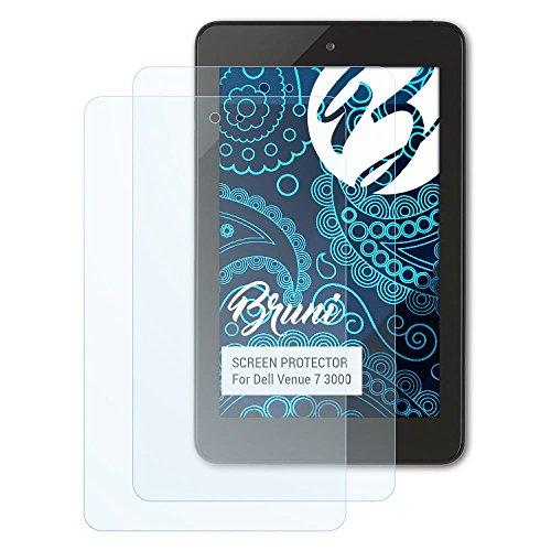 Bruni Schutzfolie kompatibel mit Dell Venue 7 3000 Folie, glasklare Bildschirmschutzfolie (2X)