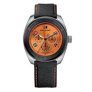 Hugo Boss 1512553 – Reloj de caballero de cuarzo, correa de plástico color negro