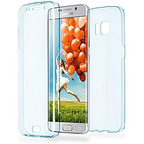 Caso doble para Samsung Galaxy S6 Edge | Funda de silicona transparente cubre todo | Delgada 360° completa casos del smartphone OneFlow | Back Cover en