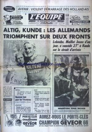 EQUIPE (L') [No 6302] du 04/07/1966