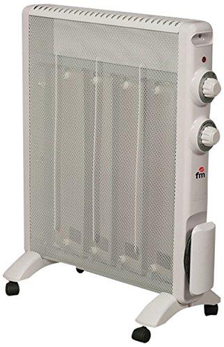 FM Calefacción RS-15 Blanco 1500W Radiador - Calefactor Radiador, Piso, Blanco, Giratorio, 1500 W...
