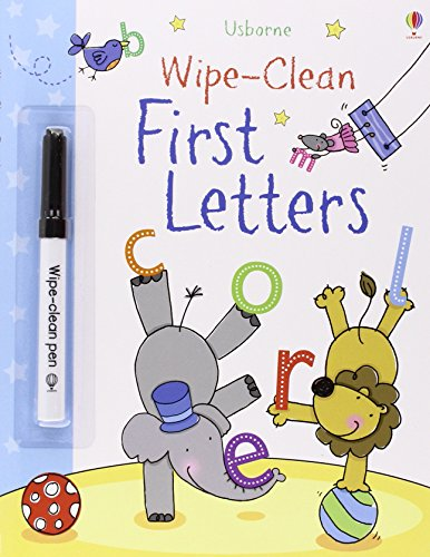 First Letters (Usborne Wipe Clean Books)