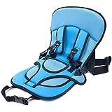 TOOGOO(R) Siege de securite voitureAuto epais coussin Portable Coussin Harnais transporteur pour bebe / enfants Booster Securite Car Seat Cover Bleu
