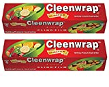 #7: Cleen Wrap Clear Wrap 100 Mtr Pack Of 2 (100X2=200 Mtrs) With Rust Proof Cutter