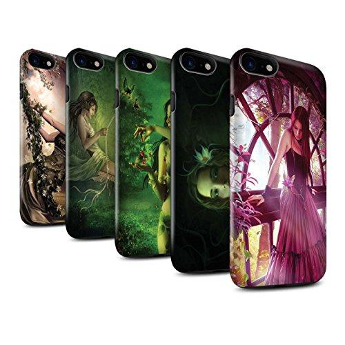 Officiel Elena Dudina Coque / Brillant Robuste Antichoc Etui pour Apple iPhone 7 / Reine des Forêts Design / Un avec la Nature Collection Pack 15pcs
