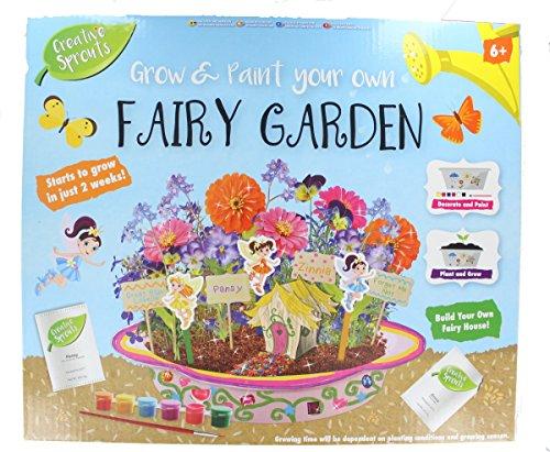 Grafix Grow & Paint Your Own Fairy Garden Kids Creative Craft Set