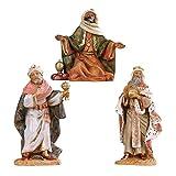 Statuine Presepe: Re magi a piedi assortiti 12 cm Fontanini