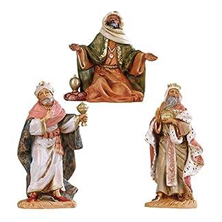 Figuras Belén color Reyes Magos a pies surtidos 12cm Fontanini