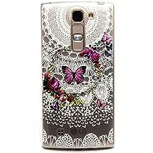 Voguecase® Para LG Magna/LG G4c ultra-slim fit TPU Funda de Silicona de Gel Carcasa Tapa Case Cover (Modelo de mariposa) + Gratis aguja de la pantalla stylus universales