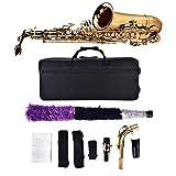 Altsaxophon Saxophon-Set mit Aufbewahrungskoffer Mundstück Zubehör Golden Geeignet Musiker 64