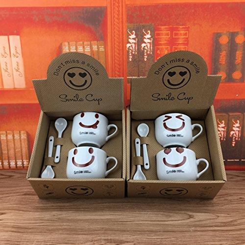 TIANLIANG04 Becher Kaffeetassen Daily_1314 Paar Becher 520 Ml Becher, Datenlöschung, Ein...