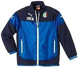 Puma Jacke Figc Italia Leisure Jacket - Chaleco de fútbol para niño, color azul, talla 14 años (162 cm)