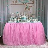 OurWarm® tul Tutu Falda Fiesta vajilla de mesa para boda decoración bebé ducha fiesta de cumpleaños 100cm x 80cm