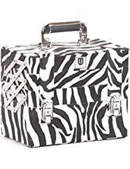 Urbanity Compact Makeup Cosmetic Beauty Case Storage Organiser Box Large Zebra