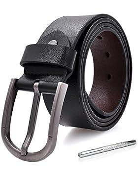 cinturón hombre de cuero negro h