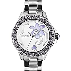 MEDOTA Saison Women's Studded Automatic Water Resistant Analog Quartz Watch - No. 9301 (Wild Orchid)