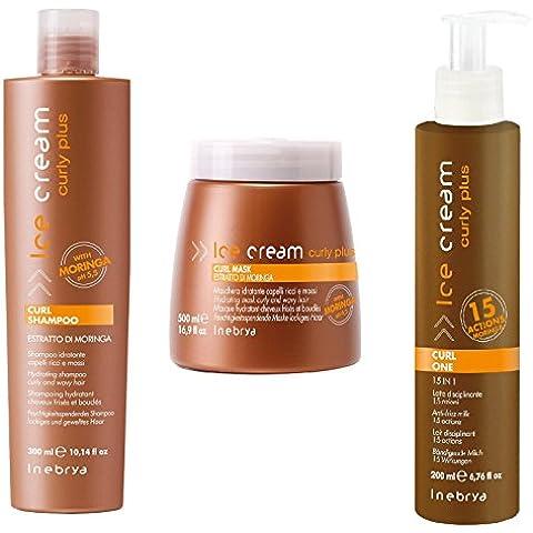 Curly Plus Kit Inebrya Ice Cream ® 3 pcs Revitalizing