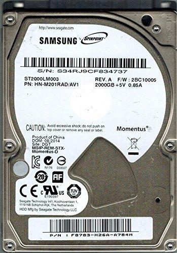 Seagate SpinPoint M9T 2TB 6,3cm interne Festplatte ST2000LM003 - Interface, Notebook-festplatte