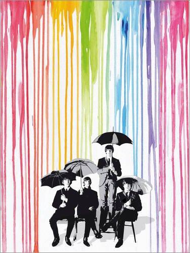 Posterlounge Cuadro Sobre Lienzo 60 x 80 cm: The Beatles Pop Style Art de 2ToastDesign - Cuadro Terminado, Cuadro Sobre Bastidor, lámina terminada Sobre Lienzo auténtico, impresión en Lienzo