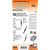 VT 15 - Bolsas de papel para escoba eléctrica, paquete de 10 unidades