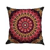 HLHN Indische Mandala Kissenbezüge Rechteck Bohemian Home Sofa/Café/Bibliothek/Buchladen/Partei/Verein Kissen Cover, Größe: 45 x 45cm (Y)