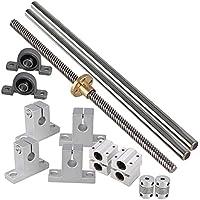CNBTR 200mm Horizontale optische Achse & 8mm Blei Schraube Dual Rail Welle Stützkissen Block Bearings & Flexible Welle Kupplung Set von 15