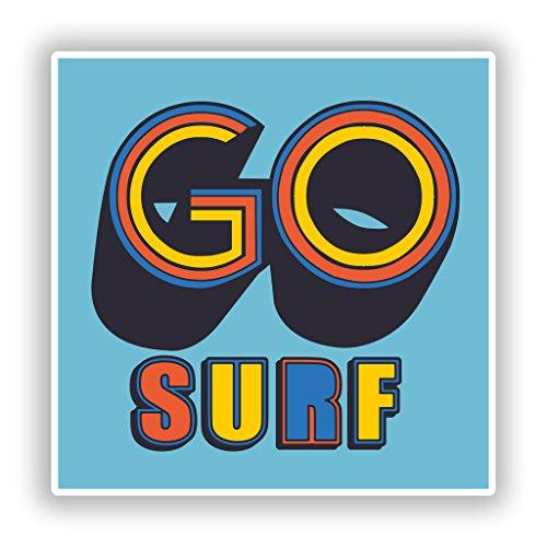 Preisvergleich Produktbild 2x Go Surf Vinyl Aufkleber Reise Gepäck # 10504 - 15cm/150mm Wide