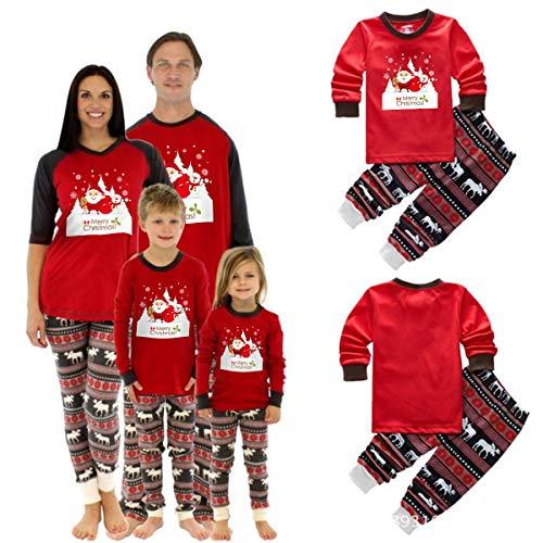 Ensemble de Pyjama de Noël Assorti Femme Bébé Enfant Vêtements de Nuit Vêtements de Nu