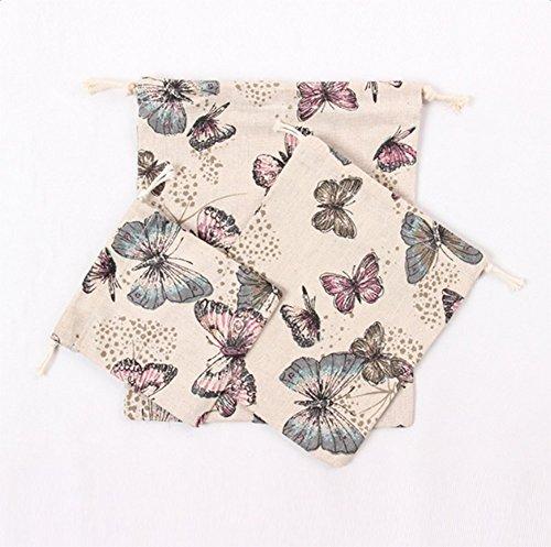 1507/5000 Westeng Kordelzug Aufbewahrungsbeutel Schmetterlingsdruck für Kleidung Spielzeuglagerung Reise-Material
