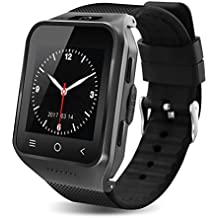 S8 3G Wireless Bluetooth Smart Watch with Camera Sleep Monitor Fitness Wrist watch For Android Samsung Galaxy S5 S6 S7 Edge S8 LG G3 G4 G5 Huawei (4G, Black)