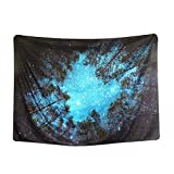 YISUMEI 200x150 cm Tapisserie Night Sky Forest Starry Wandbehang Tabelle Vorhang Wand Decor Tisch Couch Bezug Picknick Decke Beach Überwurf