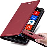Cadorabo Book Case works with Nokia Lumia 830 in APPLE RED