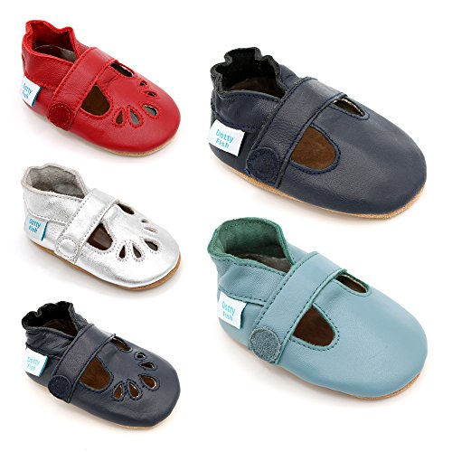 E Meninas Couro Calçados Sapatos Meninos De bar De Para Meninos Macio Azuis T Dotty Do Bebê Luz Peixe De wUqwHE4T