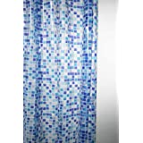 Cortinas de ducha con diseño de mosaico peva