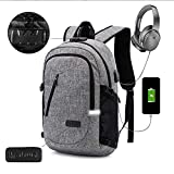 "KOBWA Sac à Dos Ordinateur Portable d'affaires, 15.6"" Sac Ordinateur Portable Hommes Femmes Anti-Theft, USB Charging Port and Headphone Port"