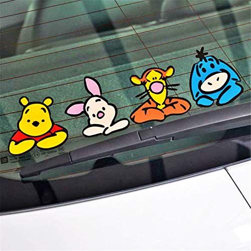 Winnie The Pooh Wandtattoo Autozubehör Schaulustige Winnie Pooh Aufkleber Aufkleber für Motorrad Skateboard Chevrolet Auto Aufkleber