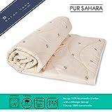 BALAK HOME® Premium Bettdecke Steppdecke Pure Sahara (200 x 220 cm) aus 100% Baumwolle hochwertige Kamelwolle | Echte Kamelwolle | Original Oeko-TEX | Direkt vom Hersteller