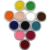 Generic Makartt 12 Color Nail Art Decorations Fuzzy Flocking Powder Nails Velvet Art Set Nail Art Tools D0062