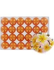 Boîte de 24 perles d'huile de bain - Monoï orange nacré