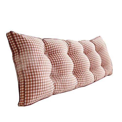 KLEDDP Appui-tête De Lit Coussin Triangle Confortable en Coton Élastique Coussin (Color : Orange, Size : 180 * 50 * 20cm)