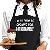 I'd Rather Be Cooking For Gordon Ramsay Apron, by BertiesBrand™. Mother's Day gift idea for fans, wrapping and message service available.