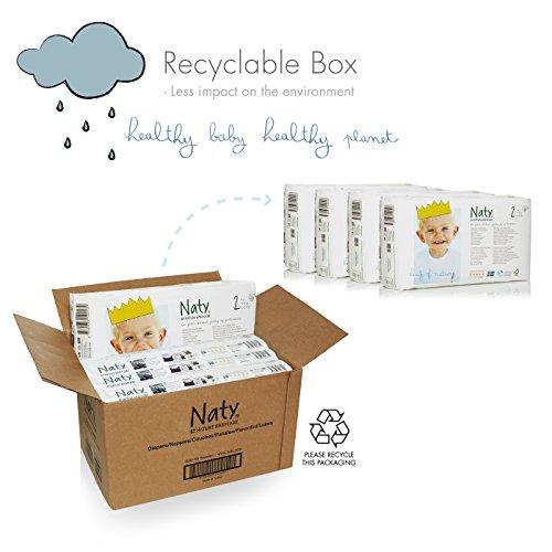 Naty by Nature Babycare Ökowindeln – Größe 2 (3-6 Kg), 4er Pack (4x 34 Stück) - 2