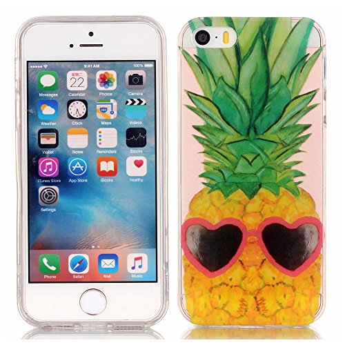 Etui iPhone 5C, Anfire Flexible Souple Soft Case Couverture Housse Protection pour Apple 5C Macaron Motif Mode Etui Coque TPU Slim pour Apple iPhone 5C Mode Anti rayures Mince Transparent Silicone Cov Pissenlit