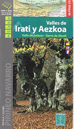 Irati y Aezkoa valles de - Valle de Salazar-Sierra de Abodi por Editorial Alpina S.L.