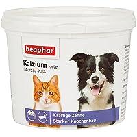 Beaphar Calcio Forte I para perros y gatos I Estable huesos y potentes dientes I neta 500g